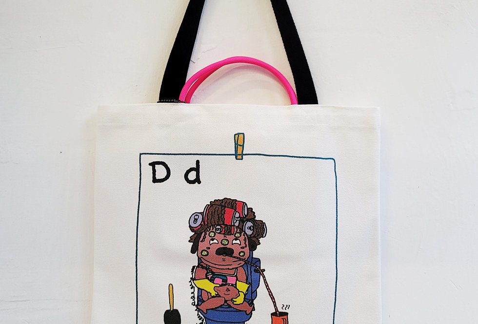D FOR Dog TOTE BAG