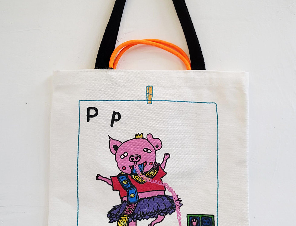 P FOR Pig TOTE BAG