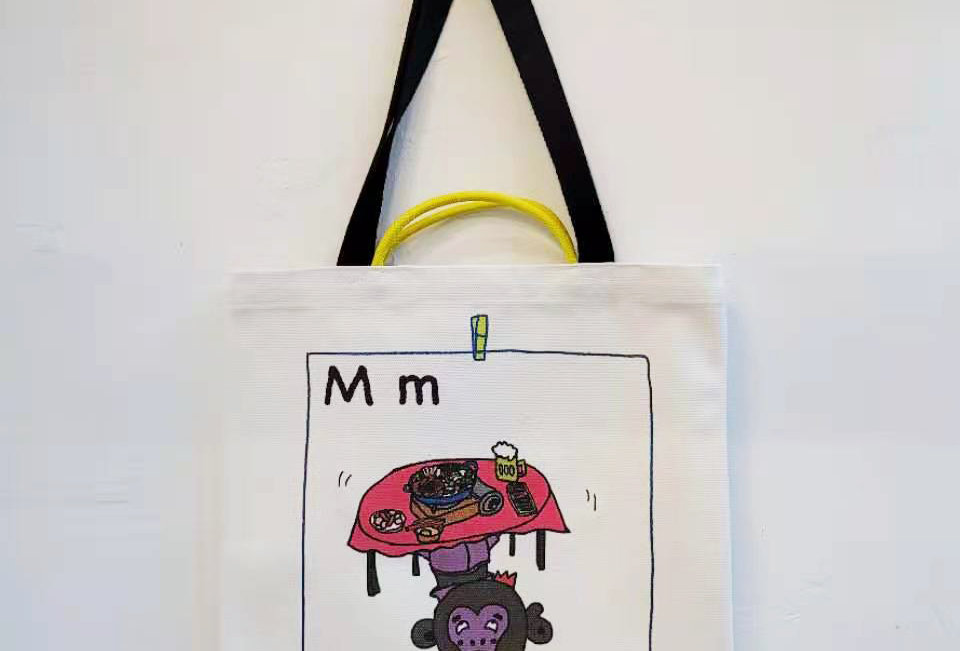 M FOR Monkey TOTE BAG