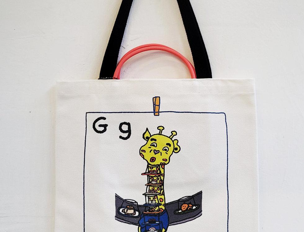 G FOR Giraffe TOTE BAG
