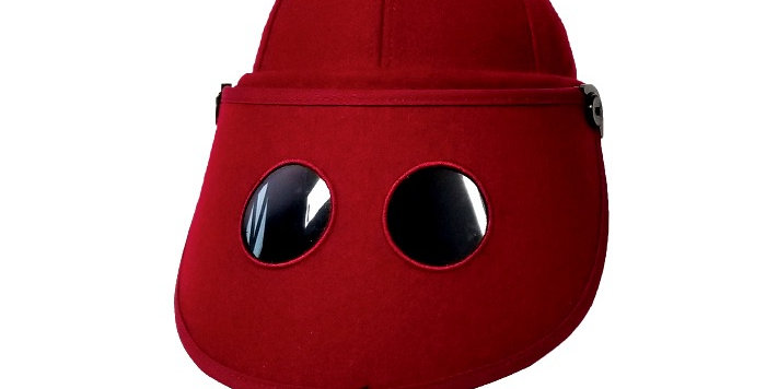 Miss Masked wool sun visor cap