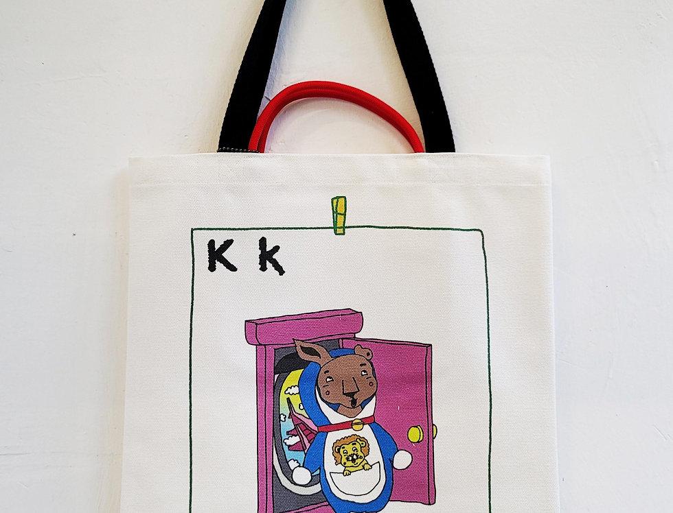 K FOR Kangaroo TOTE BAG