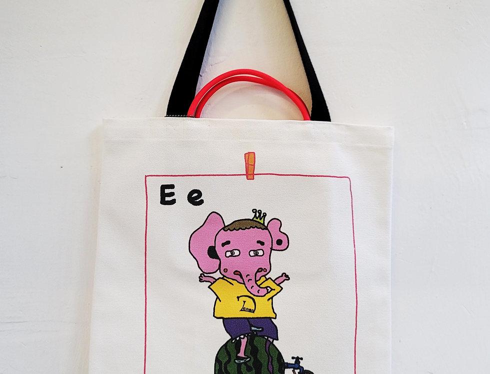 E FOR Elephant TOTE BAG