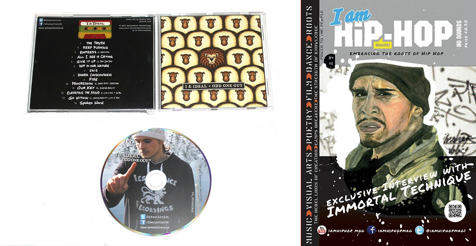 Odd One Out CD + I Am Hip Hop Magazine