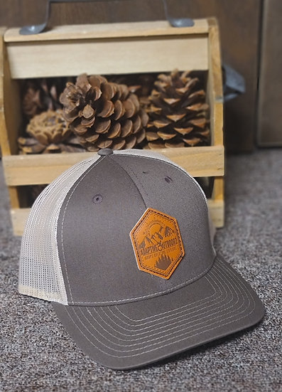 Adaptive Outdoorz Khaki/Brown | Leather Patch Trucker