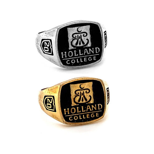 Holland College Graduation Ring Large 14x14mm