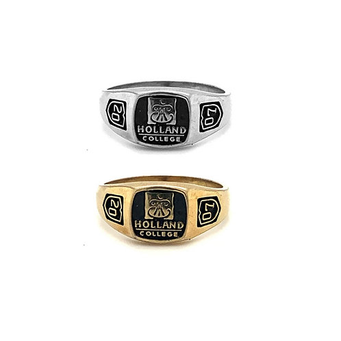 Holland College Graduation Ring Small 8x8mm