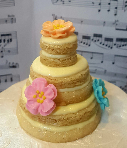 Stacked Wedding Cake Cookie httpswwwericassweetsymphonycom