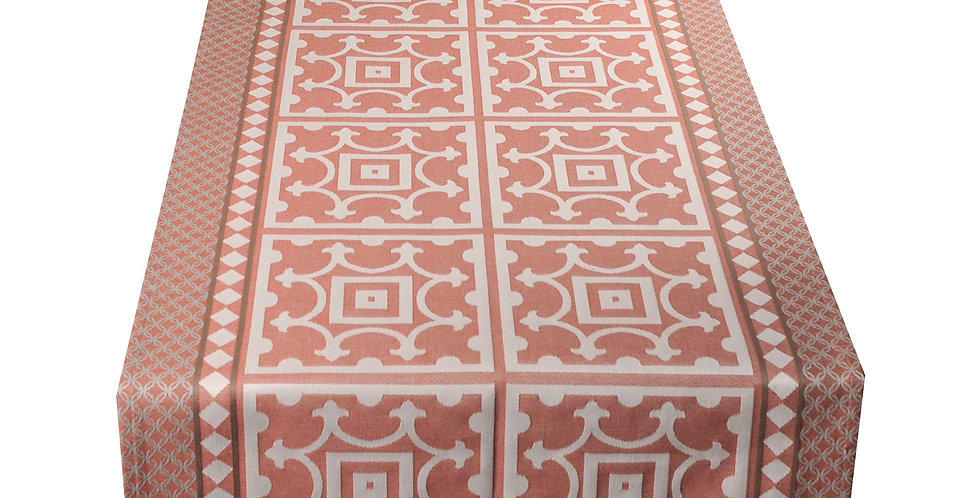 French Table Runner Jacquard Red Marius