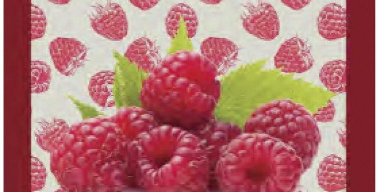 French Kitchen Towel Cotton Raspberries