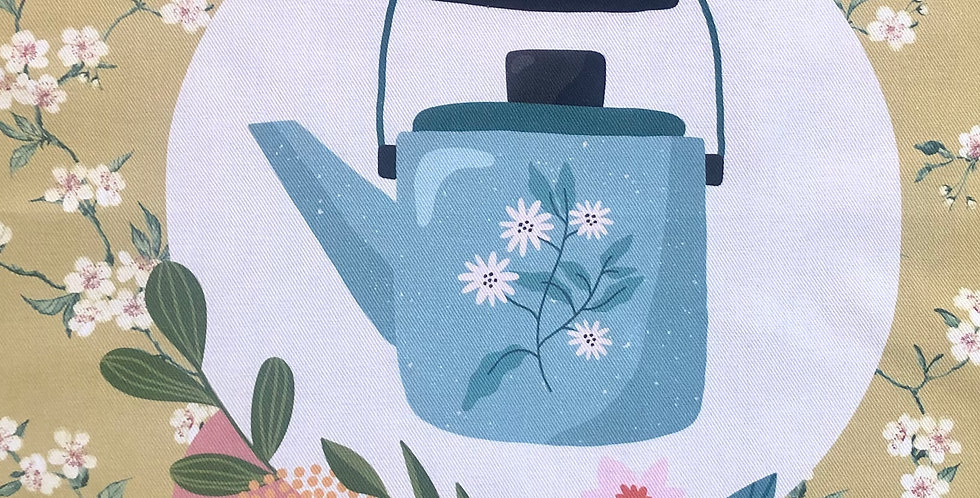 Tea Time #3 Cotton Kitchen Towel
