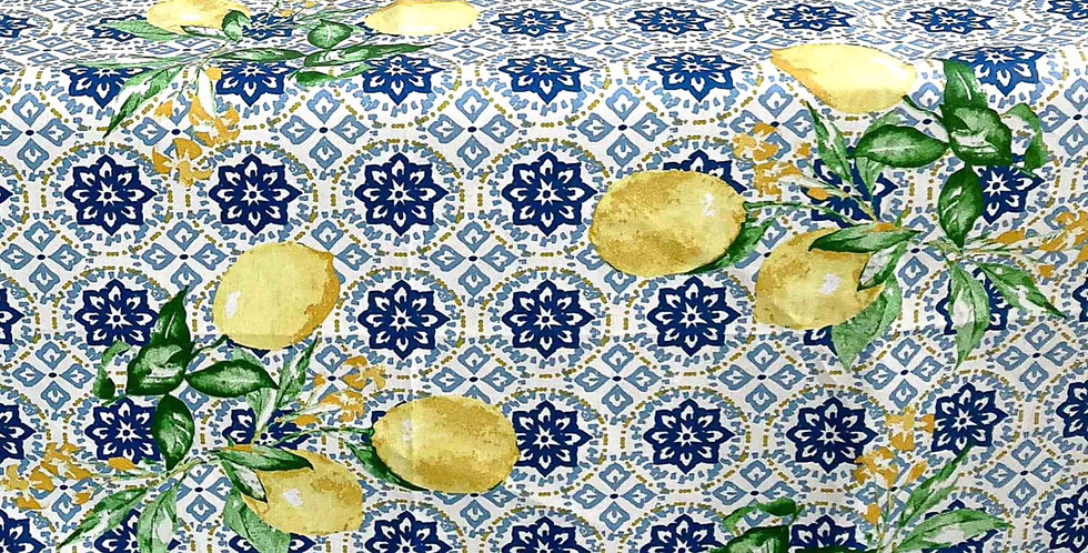 """French Tablecloth Coated 60"""" Round Gorbio"""