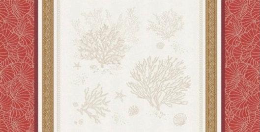 French Napkin Jacquard Coral Océane