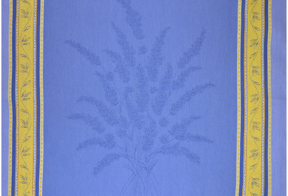 Blue/Yellow Senanque Jacquard Woven Kitchen Towel