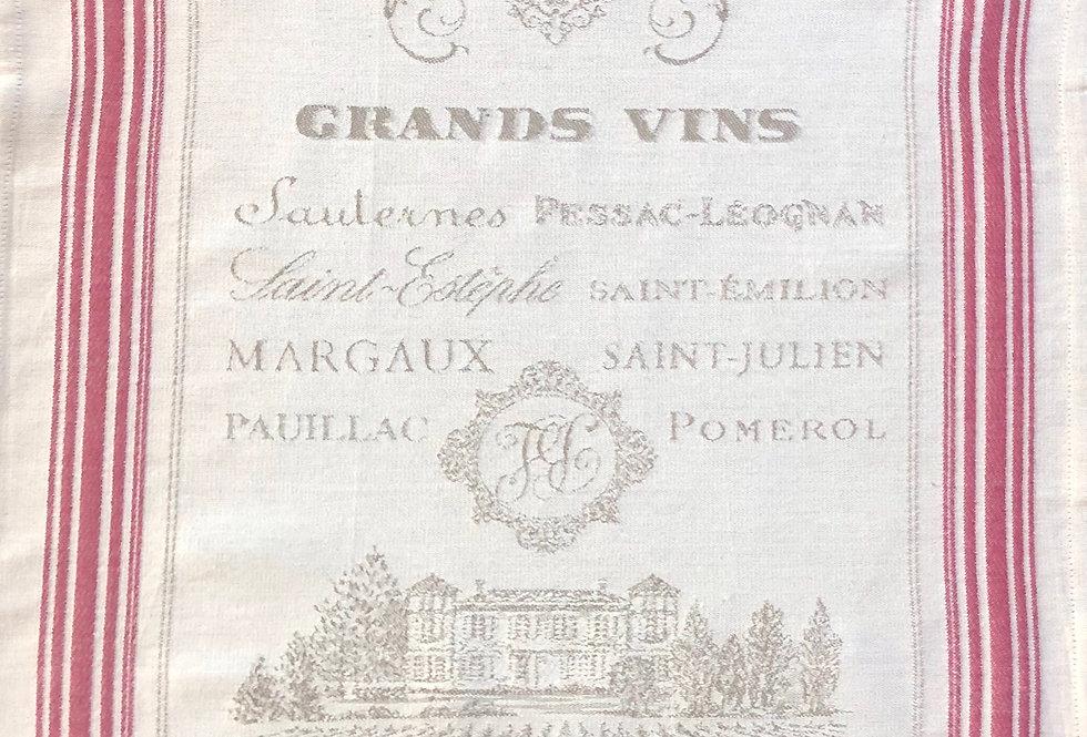 Grand Wine Jacquard Kitchen Towel