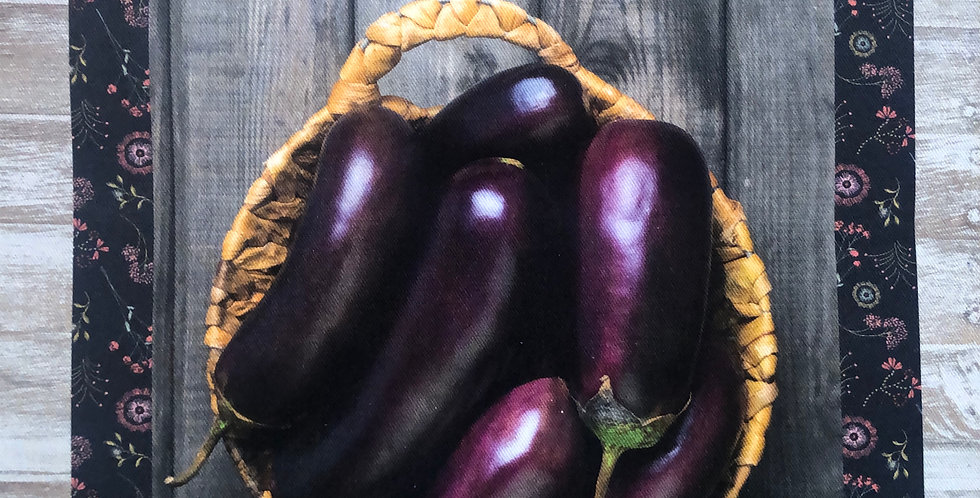 Eggplant Cotton Kitchen Towel
