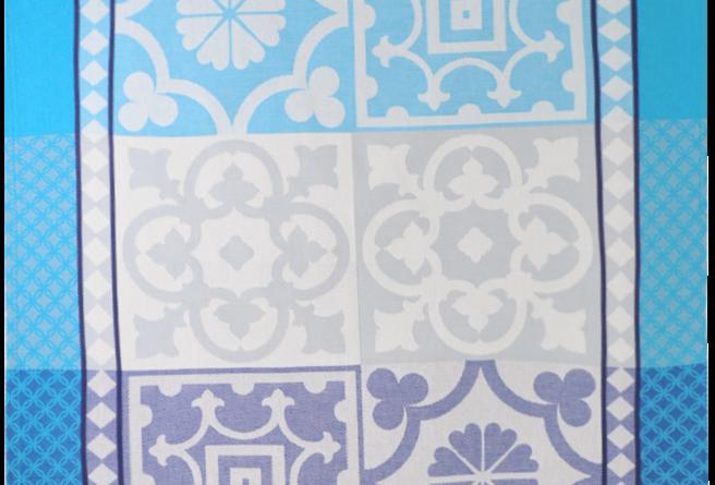 Blue Marius Jacquard Woven Kitchen Towel