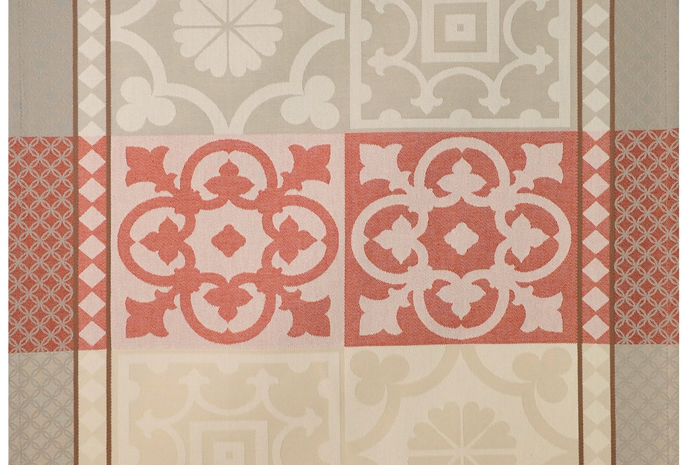 Red Marius Jacquard Woven Kitchen Towel