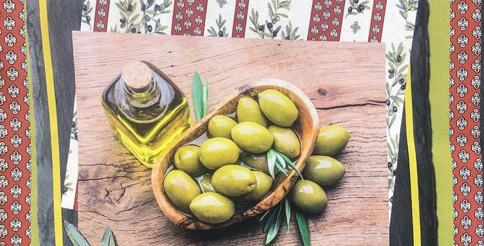 Olives #2 Cotton Kitchen Towel