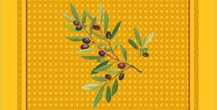 French Napkin Cotton Yellow Nyons