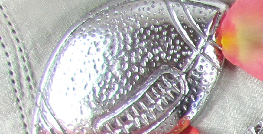 Mexican Pewter Football Napkin Topper