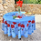 Thumbnail: Light Blue Poppy & Lavender Round Coated Cotton Tablecloths