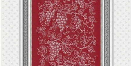 French Kitchen Towel Jacquard Red Coteau