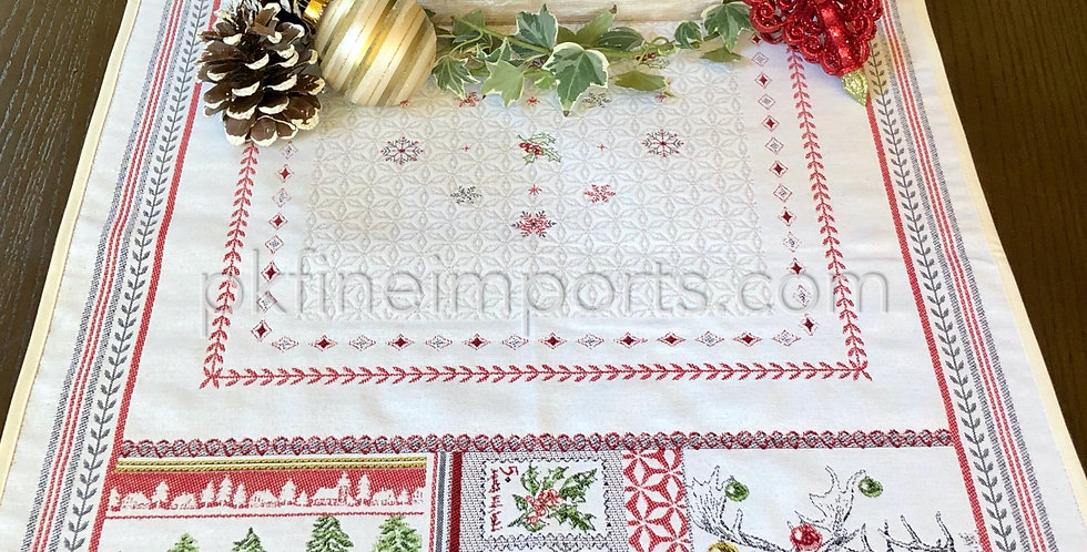 Merry Jacquard Tapestry Table Runner