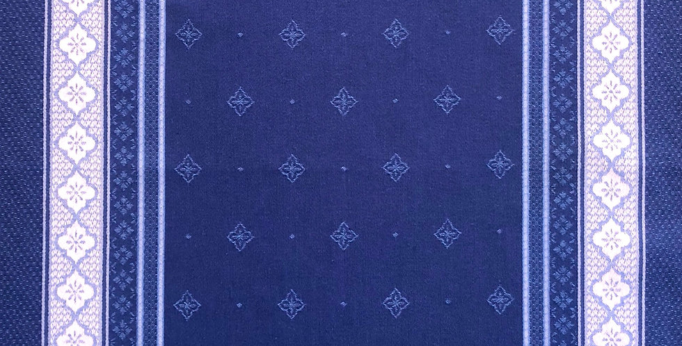 French Kitchen Towel Jacquard Blue Callas