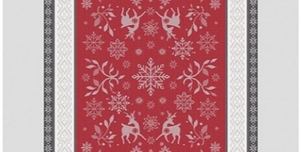 French Kitchen Towel Red/Grey Vars