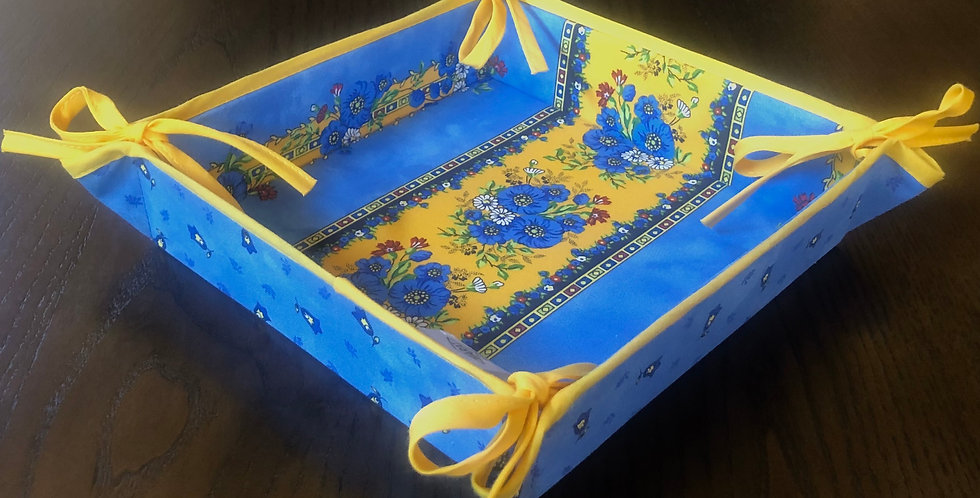 French Basket Blue Tradition