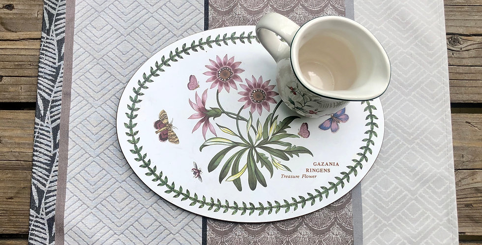 Natural Marbella Jacquard Woven Coated Placemat
