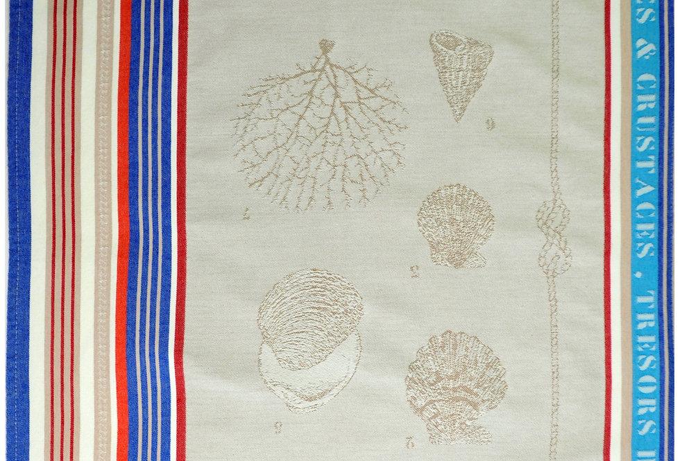Seashell Jacquard Kitchen Towel