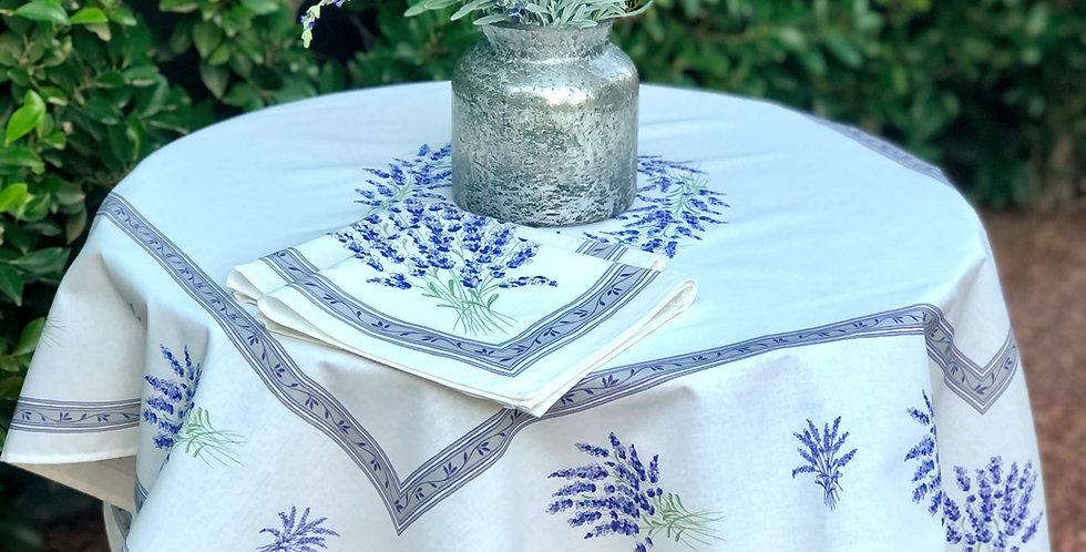 French Table Topper Cotton Ecru Valensole
