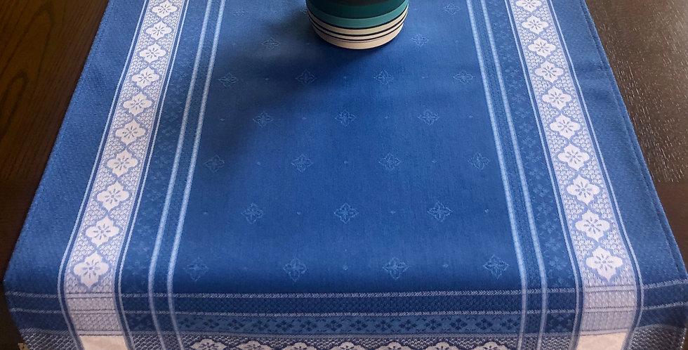 Blue Callas Jacquard Woven Table Runner