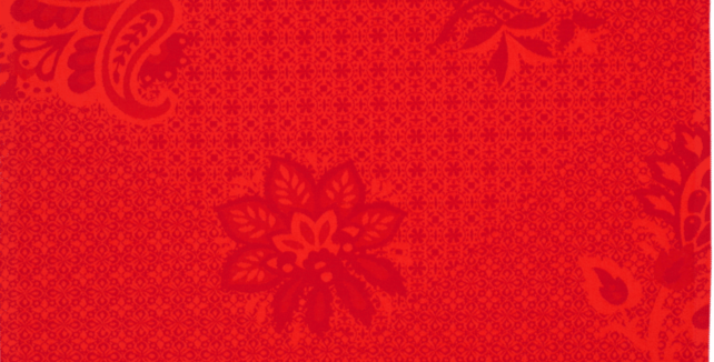 Red Ribeauville Jacquard Woven Kitchen Towel