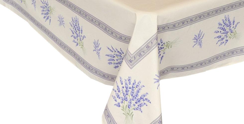 Ecru Valensole Center Design Coated Cotton Tablecloths