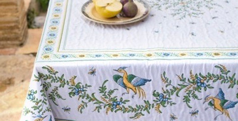 French Tablecloth Jacquard Tapestry Moustiers