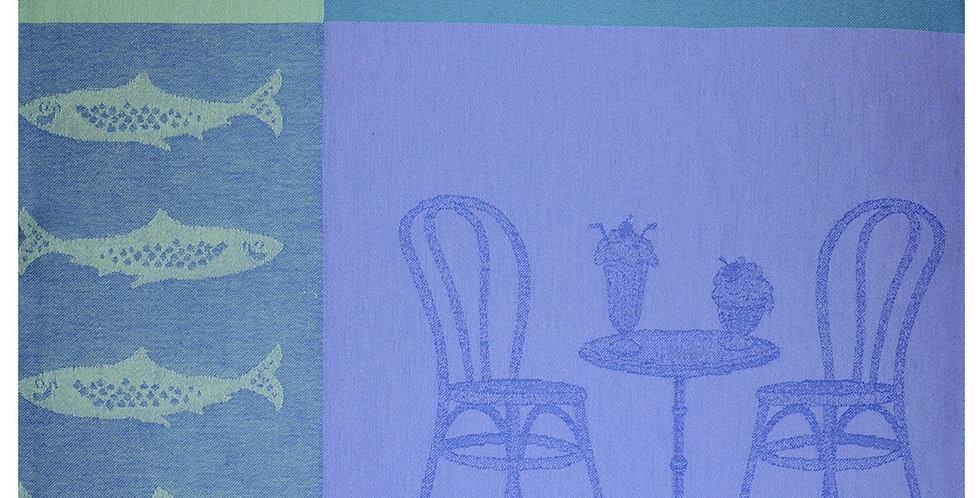Blue Dolce Vita #1 Jacquard Woven Kitchen Towel