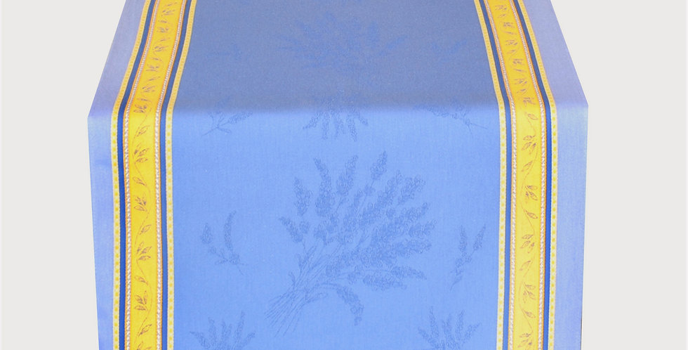 French Table Runner Jacquard Blue/Yellow Senanque