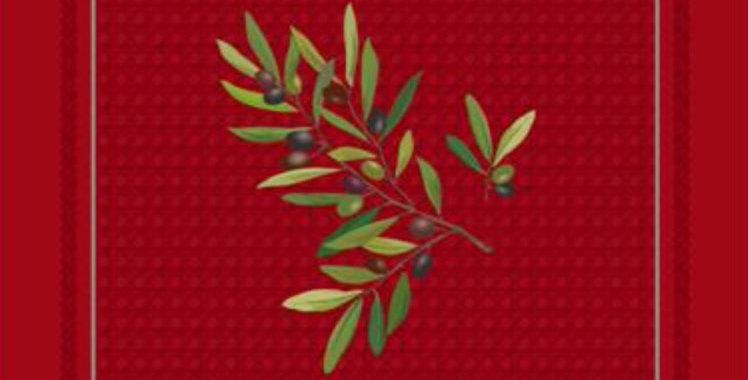 French Napkin Cotton Red Nyons