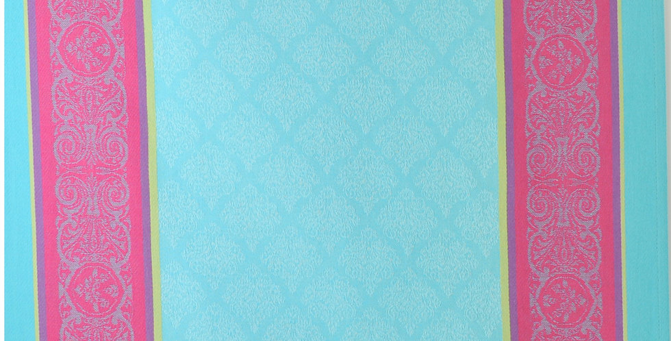 French Kitchen Towel Jacquard Turquoise Renaissance