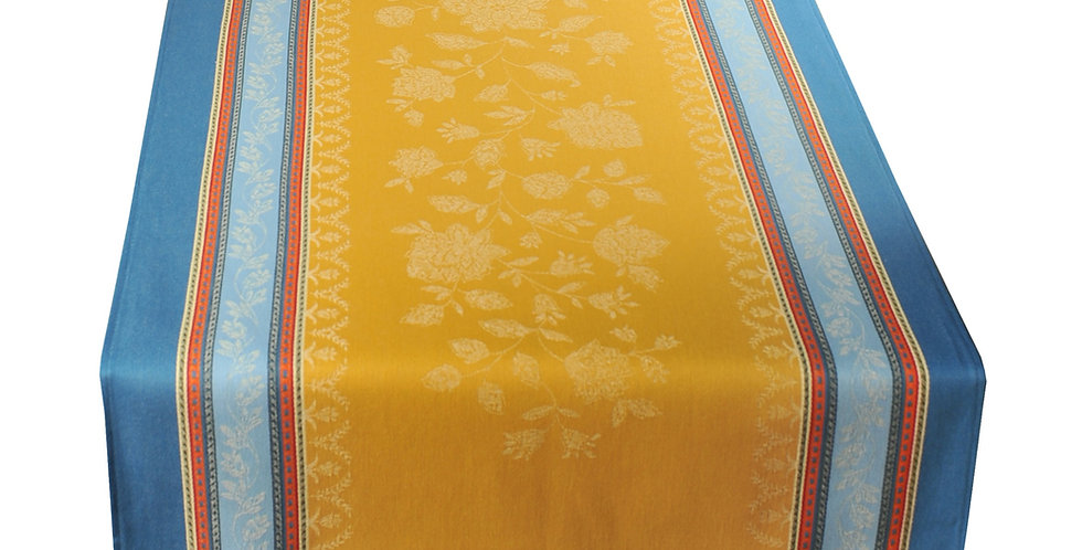 French Table Runner Jacquard Curry Ramatuelle