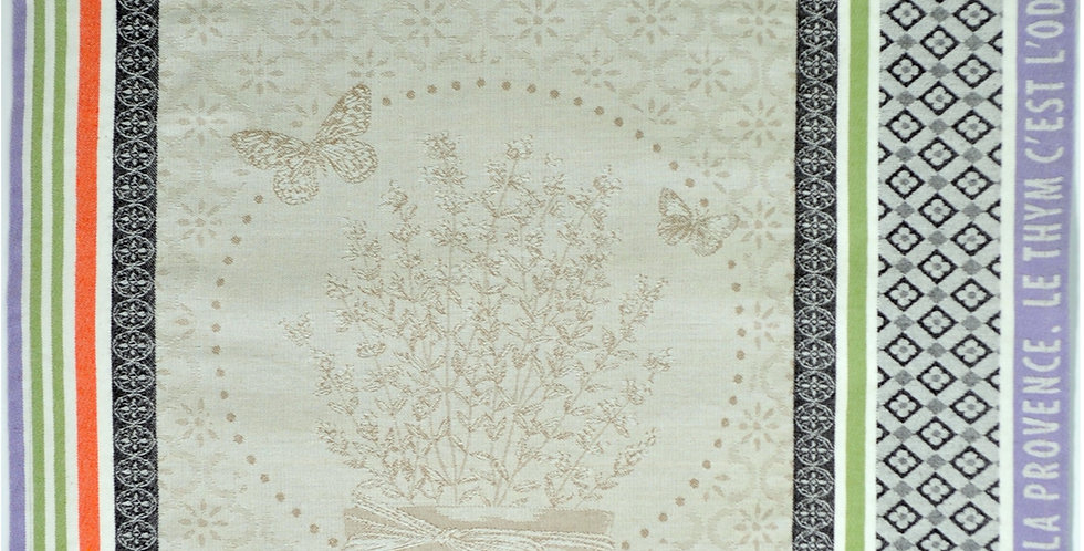 French Kitchen Towel Jacquard Thyme