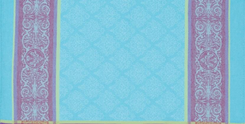 Turquoise Renaissance Jacquard Woven Napkin