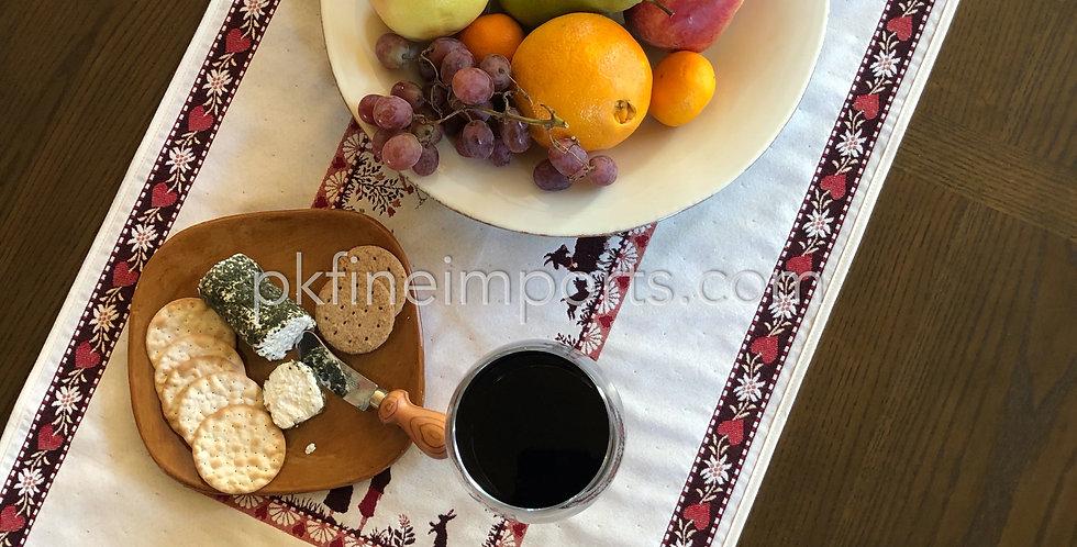 Ecru Plagne Jacquard Tapestry Table Runner