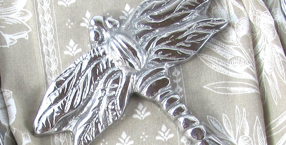 Mexican Pewter Dragonfly Napkin Topper