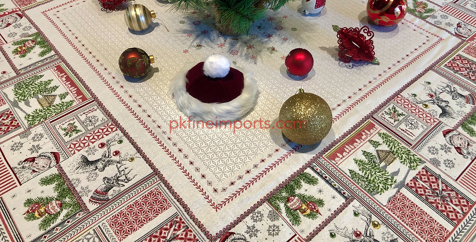 Merry Jacquard Tapestry Tablecloth