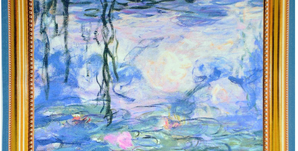 Monet Water Lilies Printed Cotton Kitchen Towel