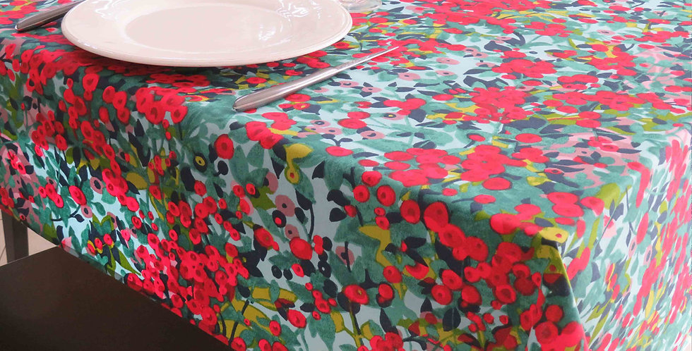 French Tablecloth Coated Capucine
